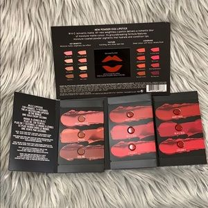 MAC lipstick blister cards 7 colors